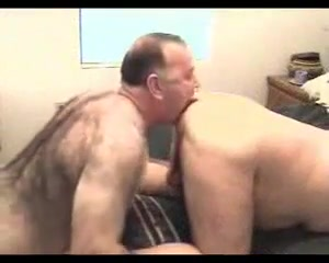 Two old chubby men How to swallow during a blow job