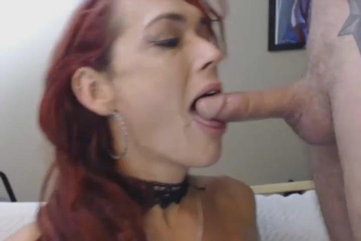 Busty Redhead Tranny Deepthroats a Hard Cock POV women cry sexo video gratos