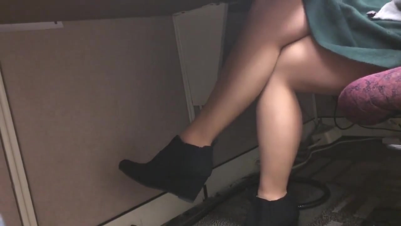 TF Wearing Tights Black Booties sucking cum through a straw
