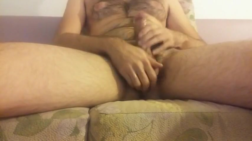 Oiled hairy cock jerking and nice big cum Premium tube site
