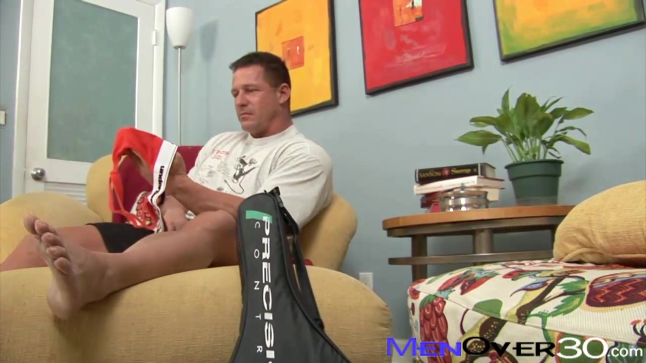 MenOver30 Video: Jock-Strapped Daddy Tight Horny Pussy
