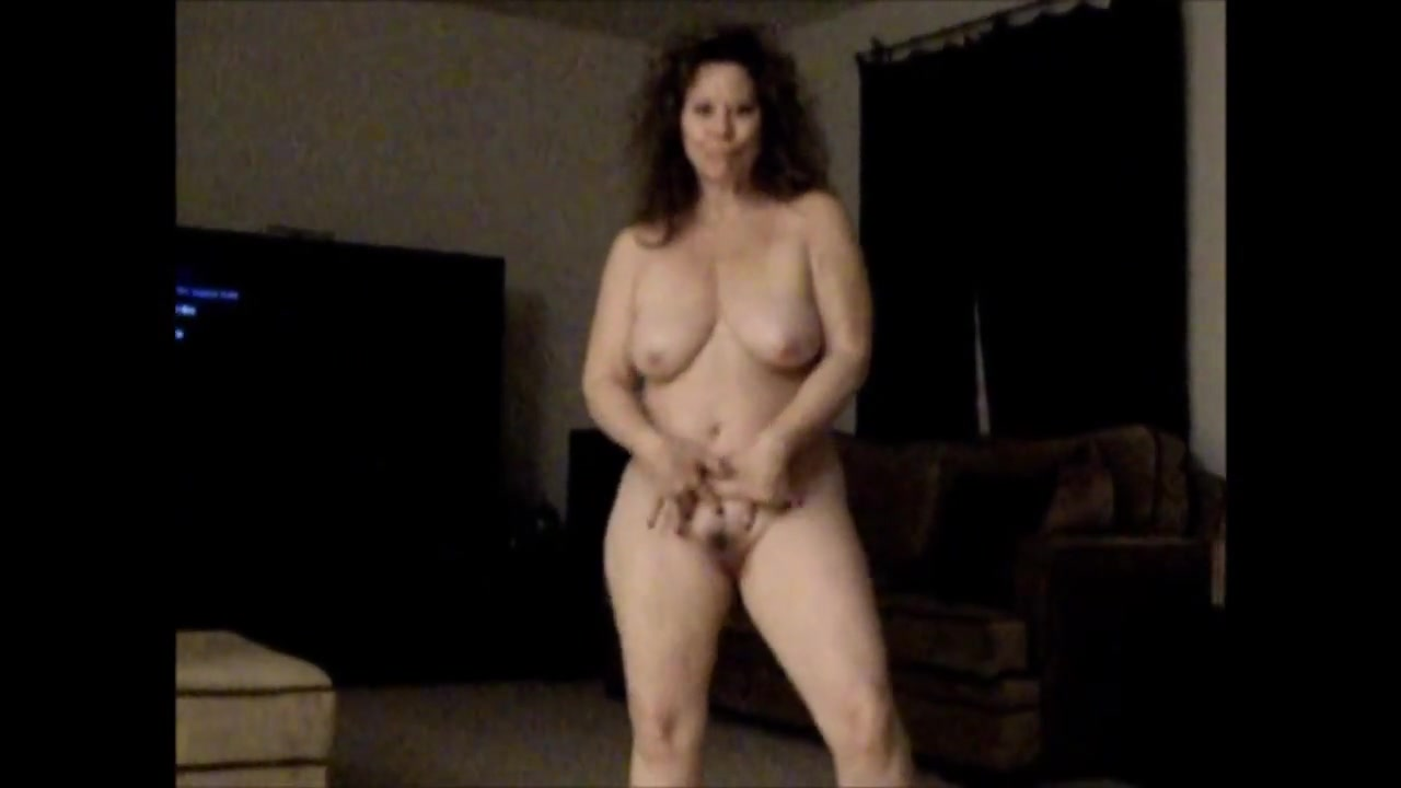 Horny Mature Jiggles BIG Tits and Ass and Sucks Cock Cheating wife voyeur creampie