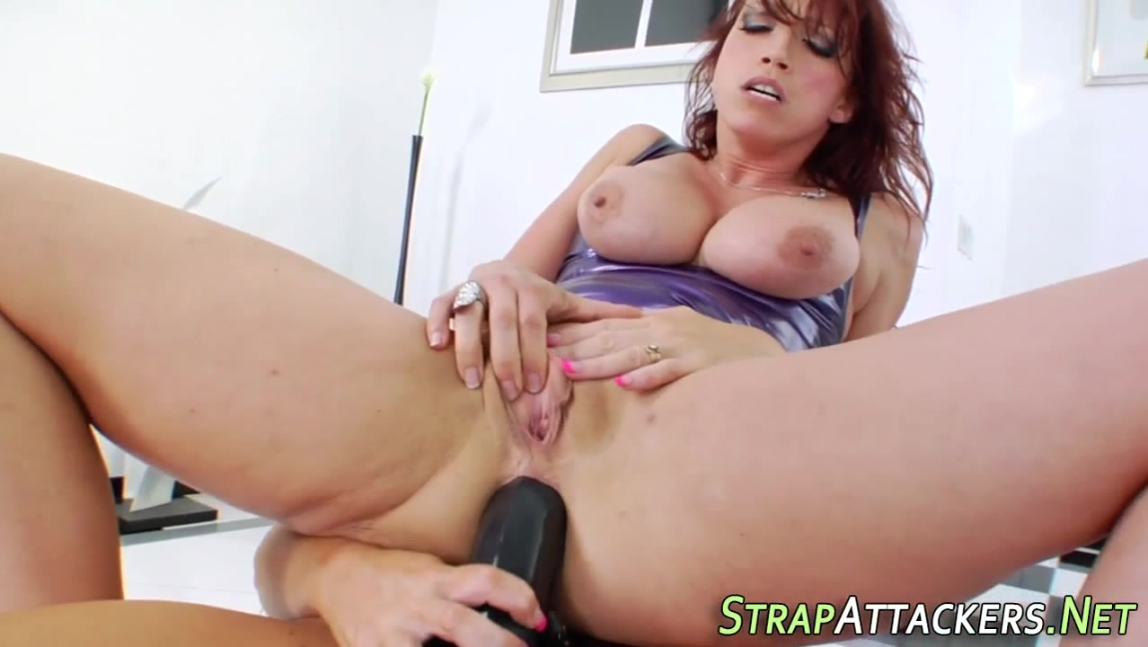 Kinky milf rides strapon sexiest man and woman with fucking