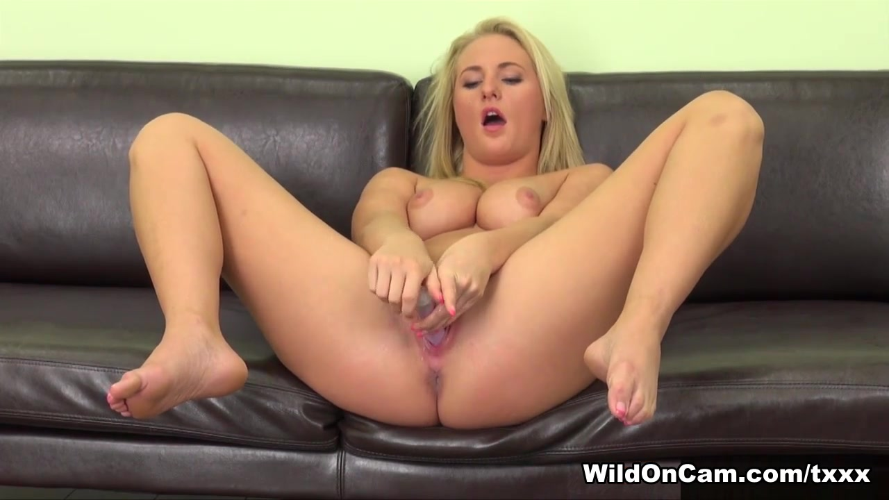 Payton Simmons in Payton Simmons Live - WildOnCam Two blondes with strapon