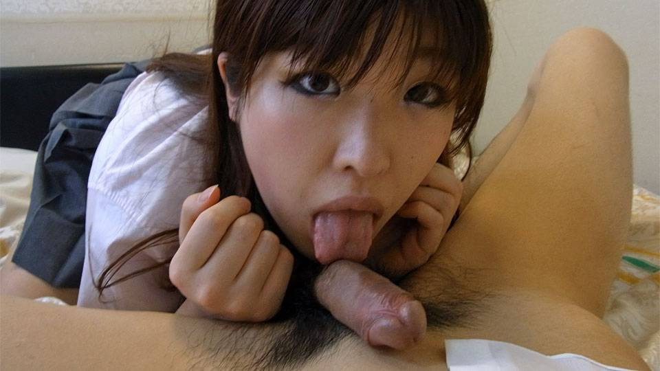 Ai Okada in Schoolgirl dress up fantasy ends up with a creampie for Ai Okada - AviDolz beautiful nude women gif