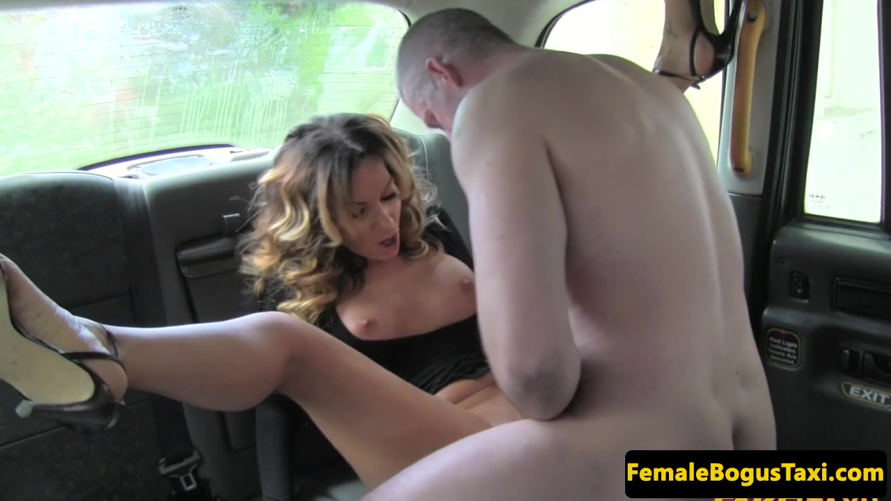 Real busty london cabbie doggystyled in taxi