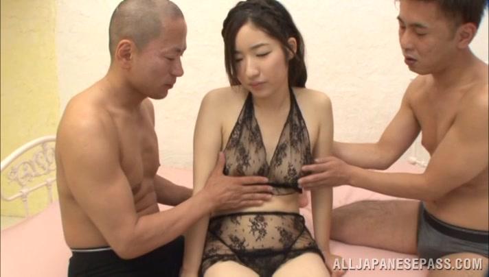 Sexy Asian Kokona Suzumyia in nasty threesome Hd shemale natural tits sucked