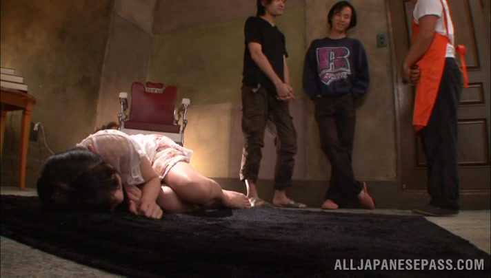 Sexy Asian teen Rina Hatsume loves fucking in group Black femalr porn stard