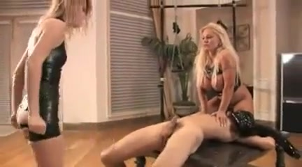 Two Mistress Beating  slavesballs