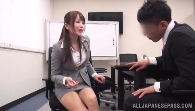 Teen fucked in her office suit while in the conference room preparing for oral sex