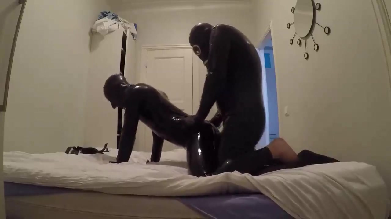 Pure latex gay sex of a boy fucking a girl