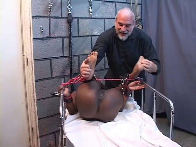Darksome hotty with hard teats get a hard agony by old boy on a room