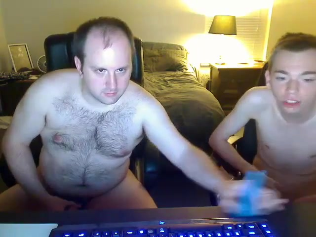Bear fucks his younger boyfriend on cam Blonde russian wife