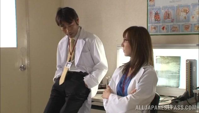 Wild Asian milf plays nurse on the floor European lesbian girlfriends muffdiving