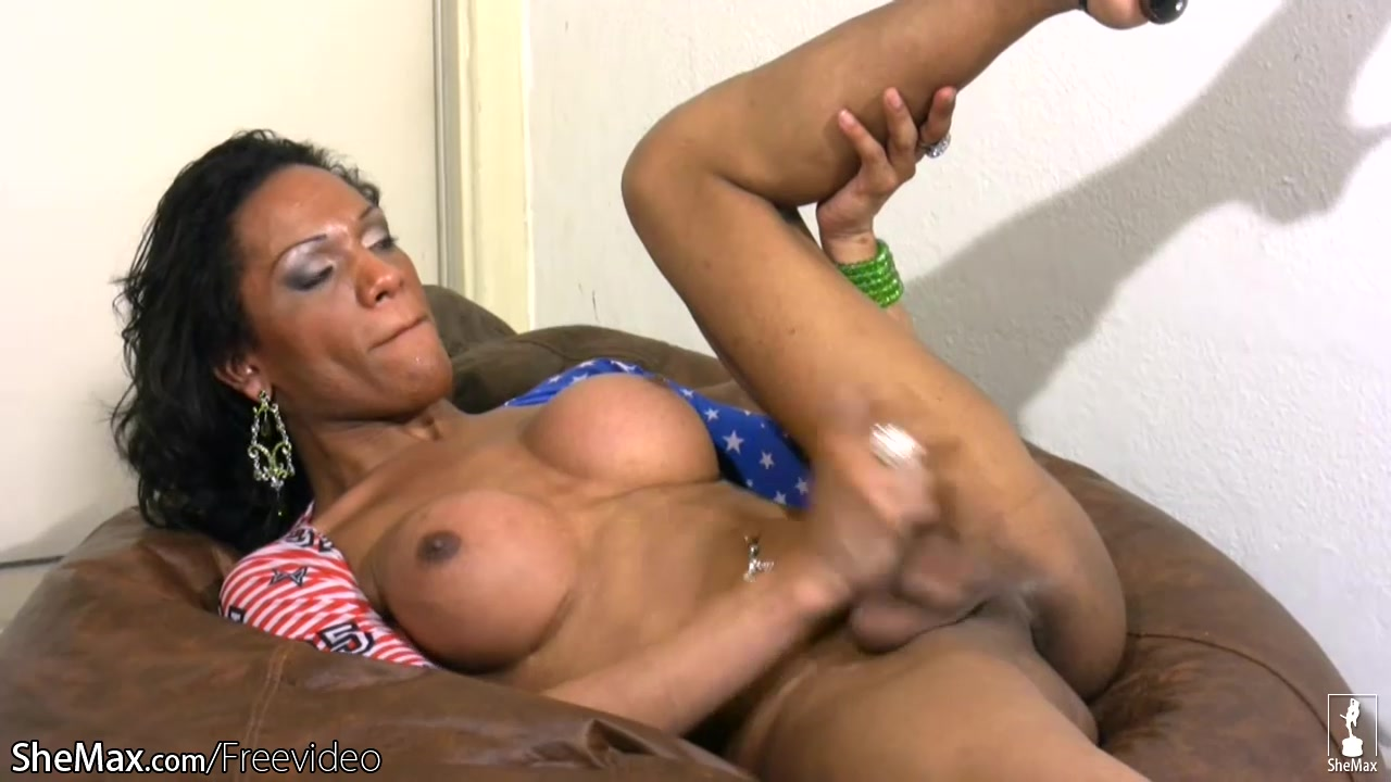 Big ass ebony t-babe is fingering her butt and jerking off Busty latina banged rough