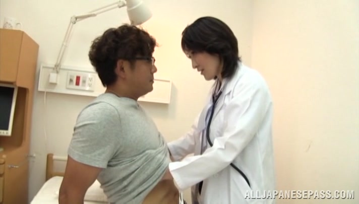 Amazing mature Asian nurse gets position 69 and tit fuck