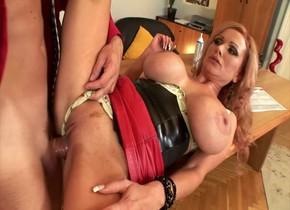 Exotic pornstar Sharon Pink in crazy blowjob, cunnilingus porn scene
