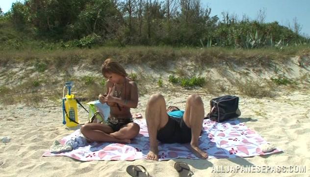 Nao Tachibana lusty Asian babe enjoys the outdoors happy feet dvdscr xvid 2006
