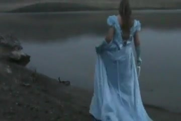 Pretty Blue cinderella dress Sexy teens bent over and fucked