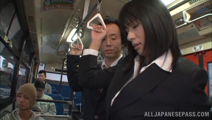 Hana Haruna is a hot Asian milf fucking in public asian horny ride movie