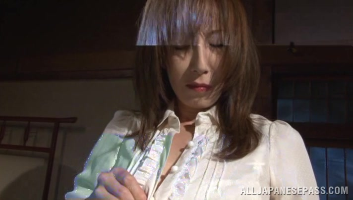 Reiko Sawamura hot Asian milf enjoys bondage sex Ass licking a man