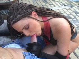 Crazy pornstar in horny brunette, stockings sex movie Ebony tugs