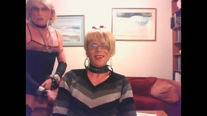 Two nice clothed crossdressers in a blowjob-clip Lithuanian female