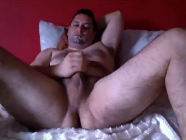 Very handsome bear wanking at hotel Extreme anal toy penetration