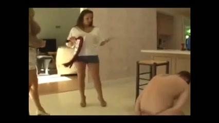 Step Daughter & Mamma Humilate Step Daddy
