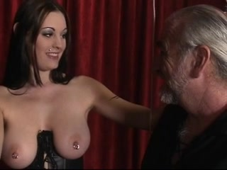 Bitch in leather cant live without being restrained and having her nipps clamped Wtc mauston