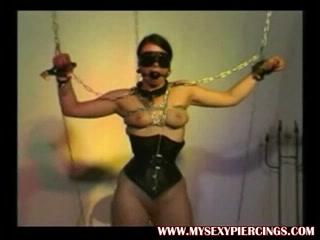 Enormous pierced villein with weights on her pierced muff Woman seeking sex in Kohtla-Jarve