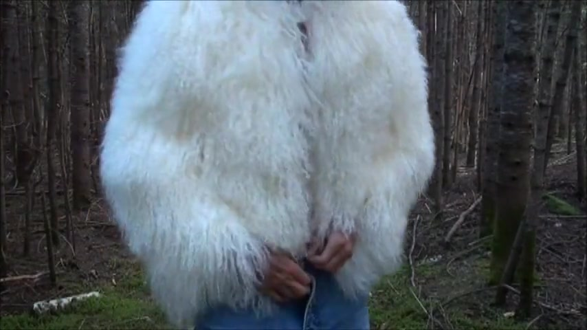 Fetish fur and cum on chest Black velvet nude