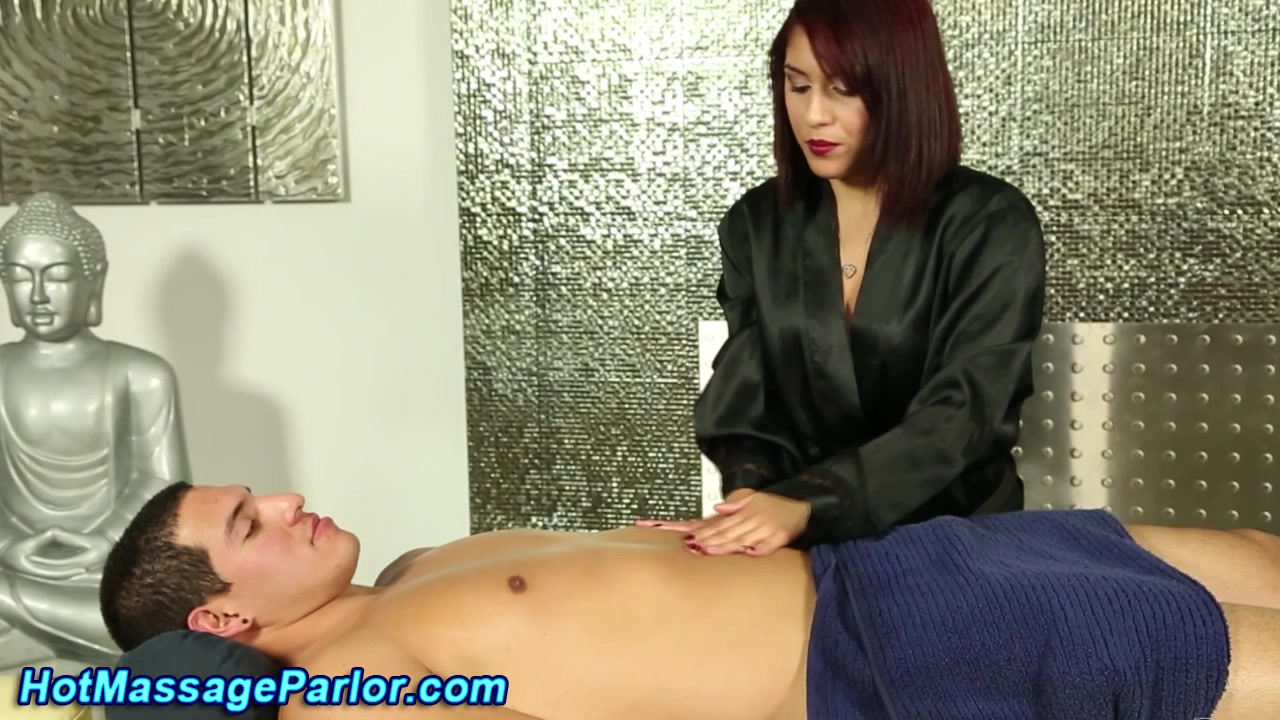 Redhead masseuse sucks Wild Ebony Tube