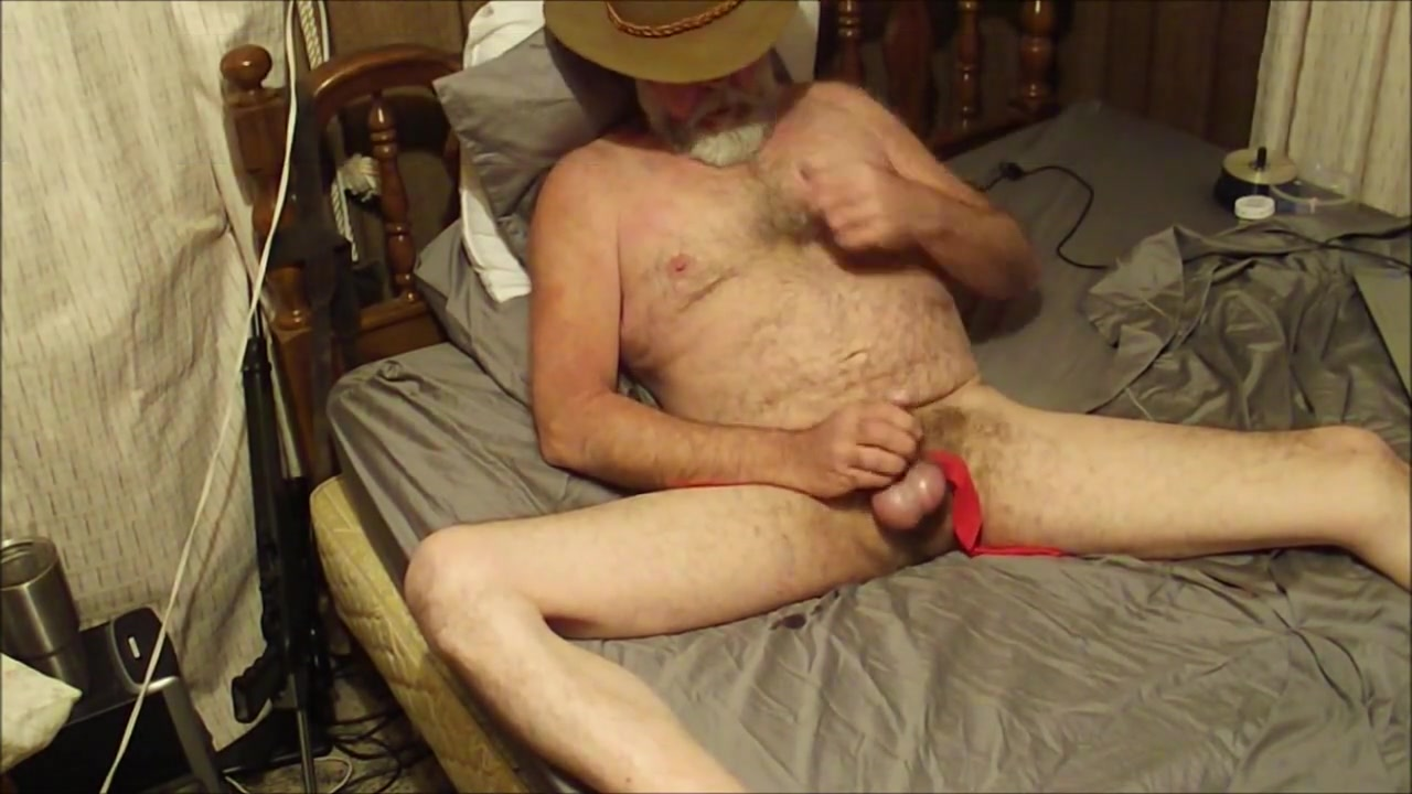 Cowboy Daddy masturbates sex with a contortionist