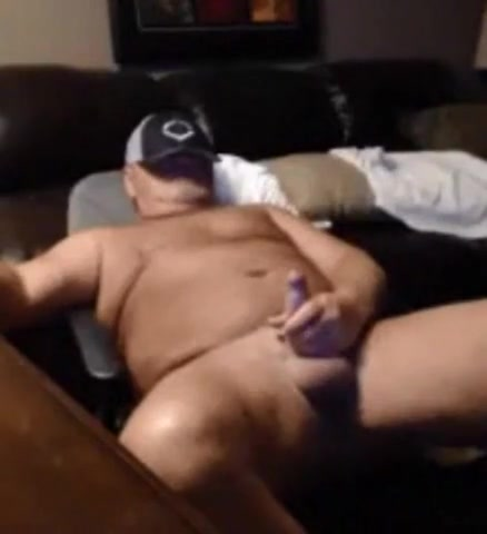 Beefy daddy playing with cock Mature tits and hairy