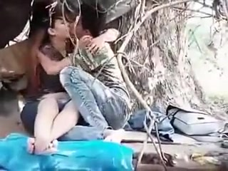 Myanmar Couple Mature man wanking outdoor