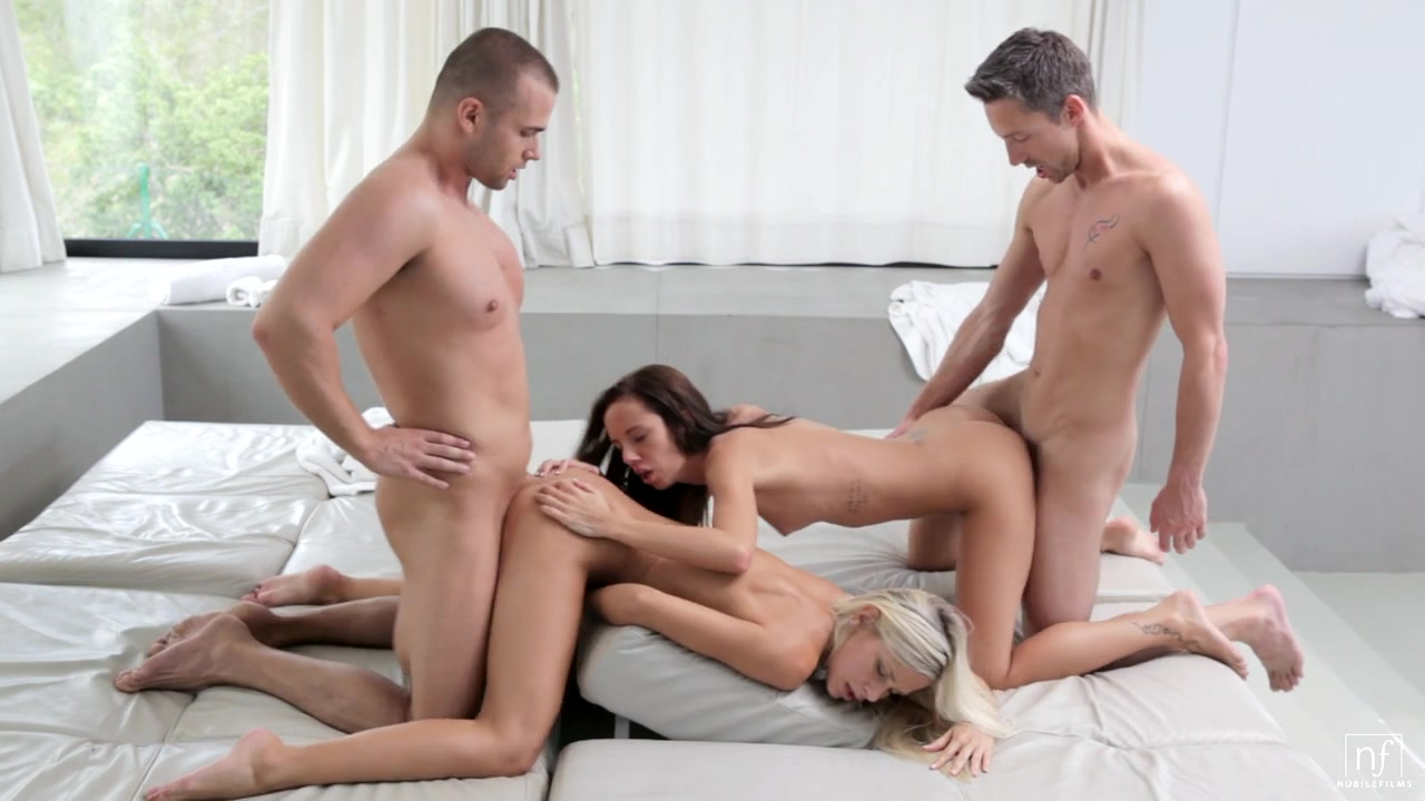 NubileFilms Video: Group Session Incredible Blowjob Contest