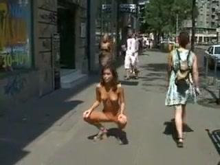 Nastka naked in the city center