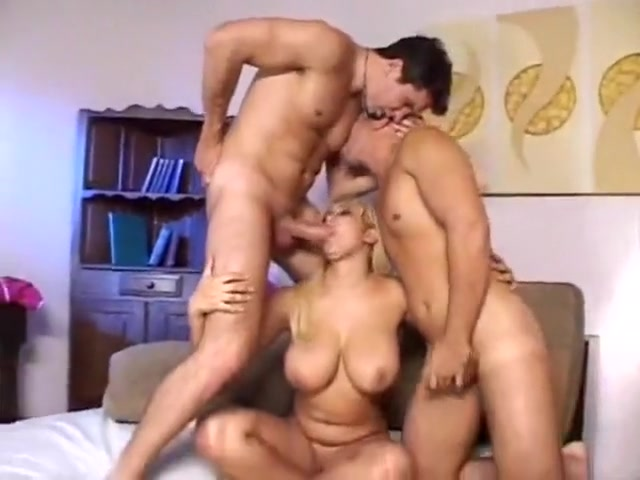 Two gay men and thick blond Pussy suck squirt