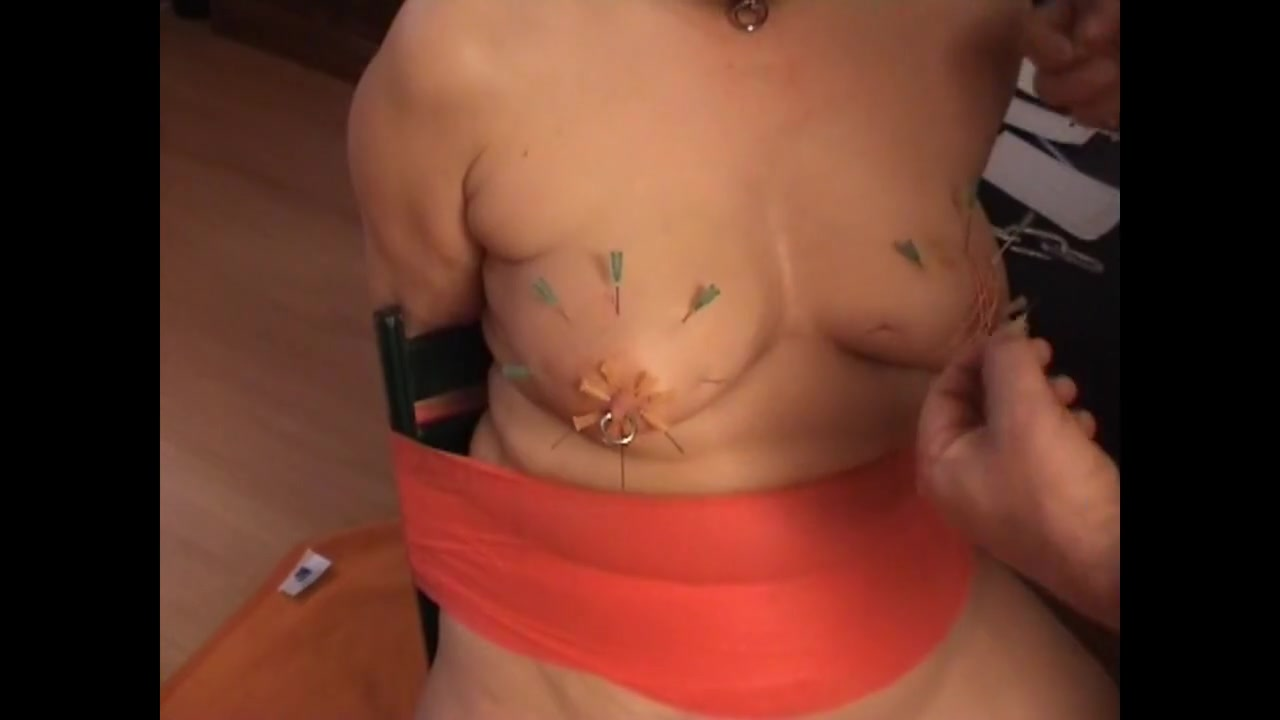 The nipples from the SKLAVIN-Z decorated with needles Bangla full nekad fuckig