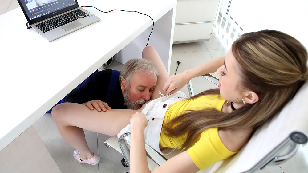 Vlada in Vlada gets her first taste of old man cock - OldGoesYoung Girl fucked by guys clip