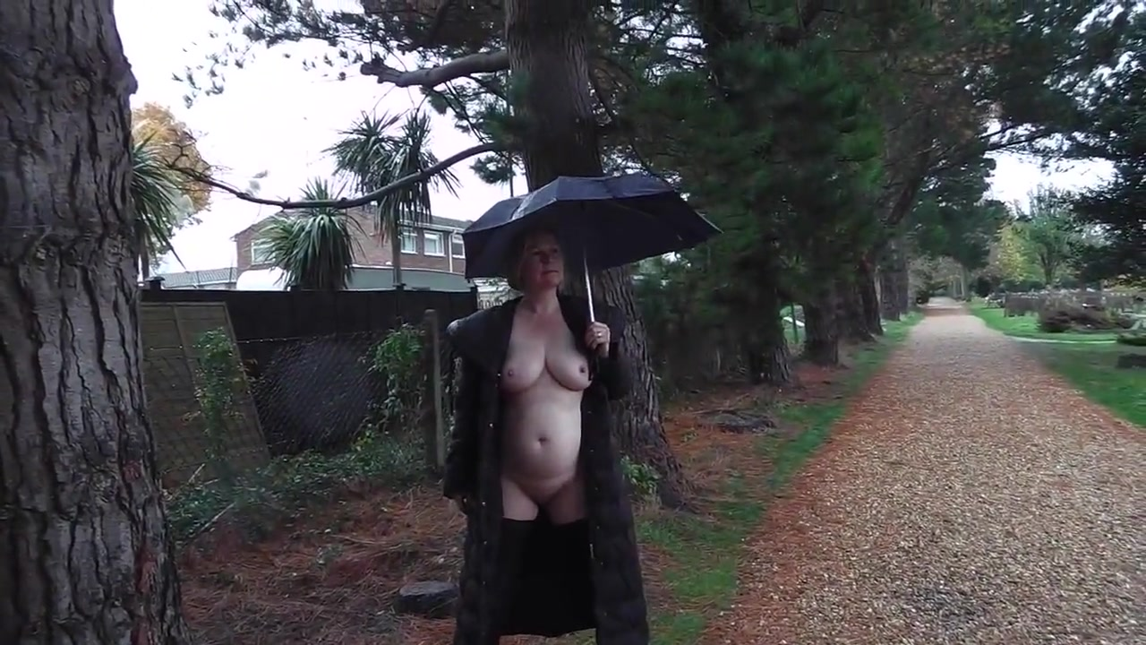 Slut wife exposing herself and pissing in a cemetery