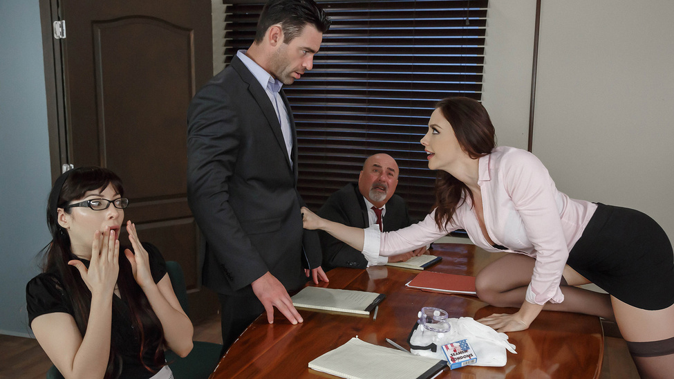 Chanel Preston & Charles Dera in Vote of Cum-fidence - Brazzers guys forcing girls to have sex