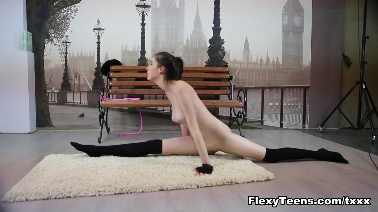 FlexyTeens Video: Ariella Part 2 Hairy reverse cowgirl closeup