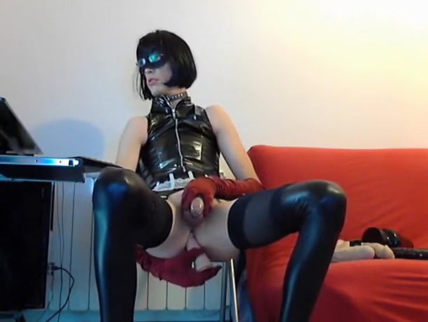 Crazy homemade shemale movie with Stockings, Solo scenes