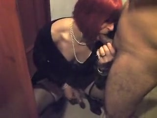 Fabulous amateur shemale video with Blowjob, Redhead scenes