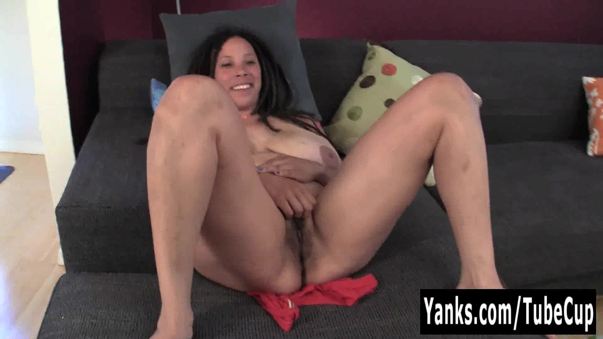 Busty MILF Shannon Rubbing Her Hairy Cunt pussy gripping huge dildo porn videos search watch and download