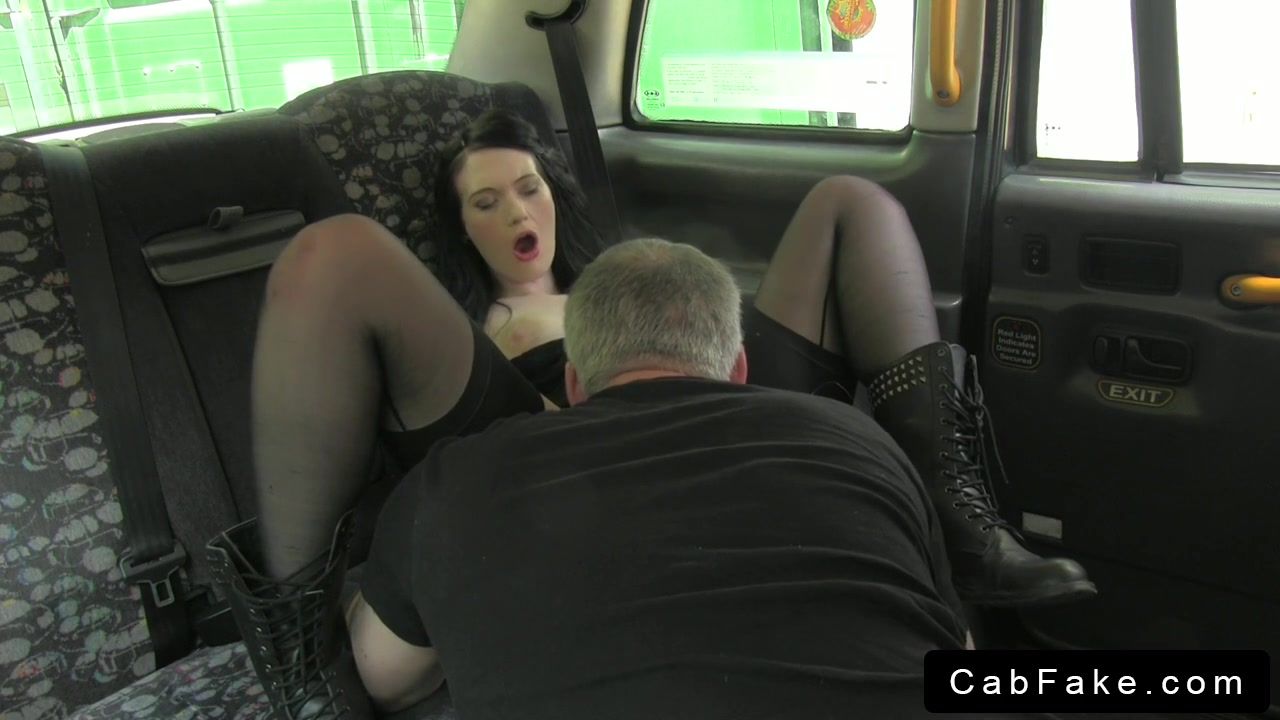 British emo babe fuck and creampie in fake taxi Classy lesbo flashes cunt in female fake taxi