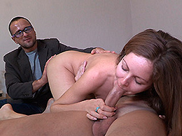 Yan & Elisaveta Gulobeva & Mark in Fucking Negotiations - SellYourGF Asian babe enjoys getting pussy fingered