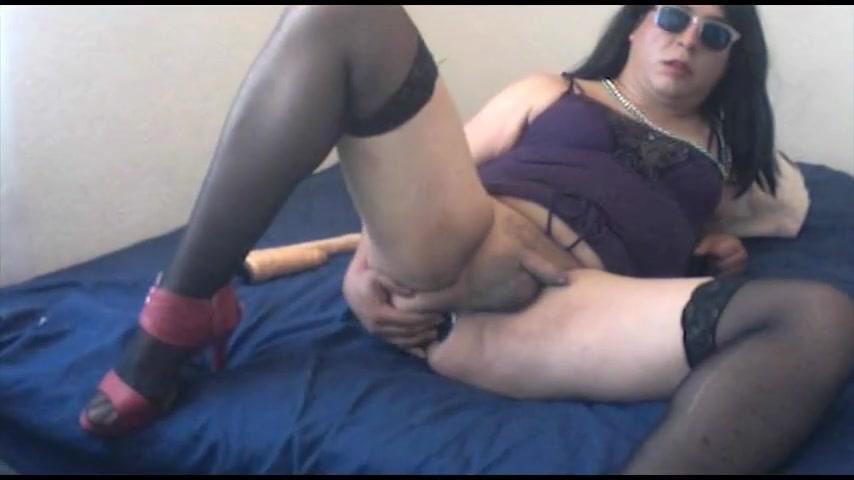 Sissy Slut CD -playin dildo on videocall goodbye blue sky meaning